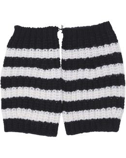 Striped Wool Fingerless Gloves