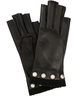 Nappa Leather Fingerless Gloves