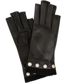 Nappa Leather Fingerless Gloves