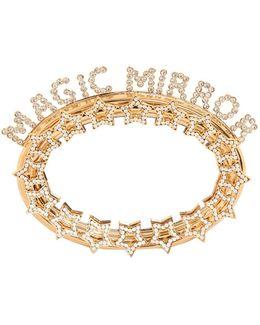 Magic Mirror Stars Brass Clutch Bag