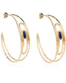 Angelica Lapis Hoop Earrings