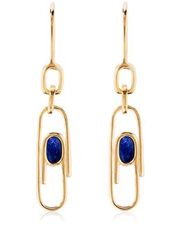 Angelica Lapis Paper Clip Earrings