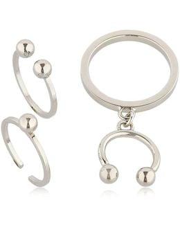 Pierced Set Of 3 Rings