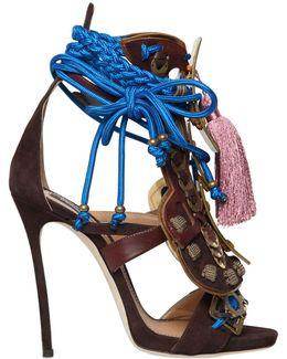 Samurai Suede & Leather Sandals