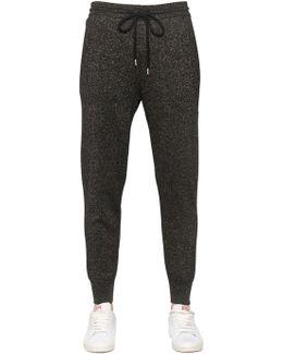 Cotton Lurex Knit Jogging Pants