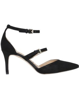 75mm Thea Suede Pumps