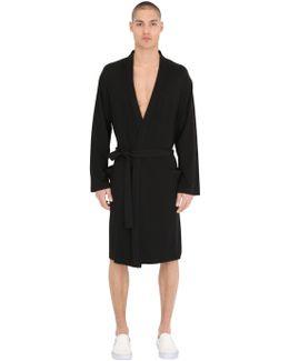 Cotton Blend Jersey Robe