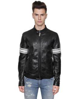 Vintage Effect Nappa Leather Jacket