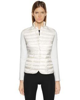 Techno Ottoman Knit & Nylon Jacket