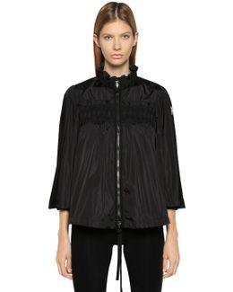 Suze Embroidered Ruffled Nylon Jacket