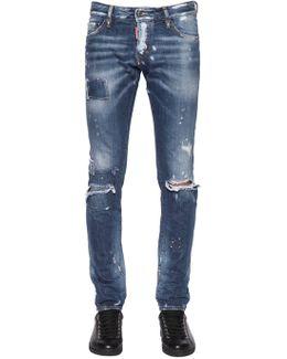 17.5cm Slim Ripped Denim Jeans