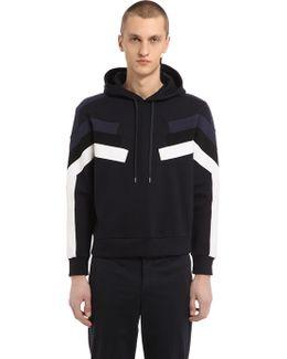 Hooded Neoprene Sweatshirt With Inserts