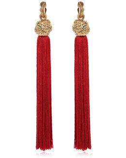 Tassel Clip On Earrings