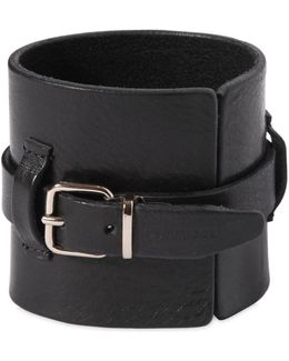80mm Buckle Leather Bracelet