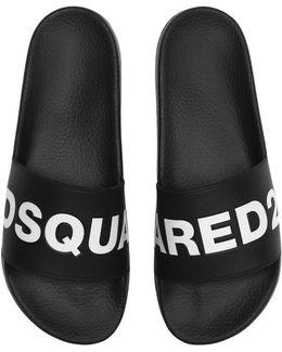 Logo Rubber Slide Sandals