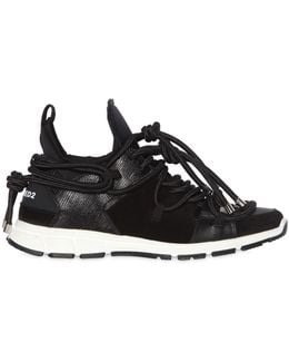 Bungy Jump Neoprene & Leather Sneakers
