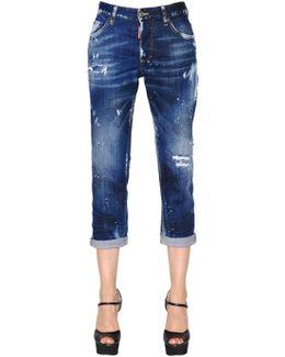 Boyfriend Washed Stretch Denim Jeans