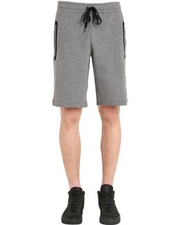 Medusa Patch Cotton Sweat Shorts