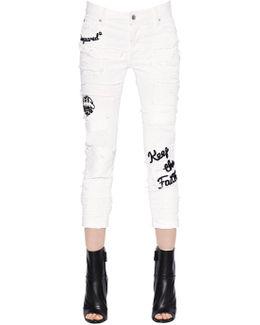 Glam Head Destroyed Stretch Denim Jeans