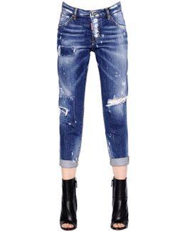 Hockney Destroyed Cotton Denim Jeans