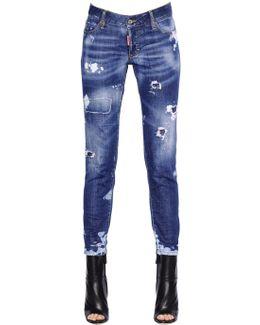 Jennifer Destroyed Stretch Denim Jeans