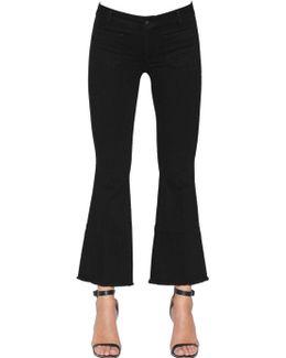Penelope Short Frayed Denim Jeans