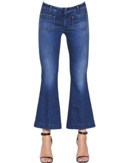Penelope Short Cotton Denim Jeans