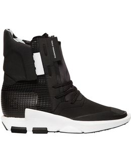 Noci Nylon & Leather Boot Sneakers