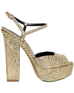 150mm Brocade Platform Sandals
