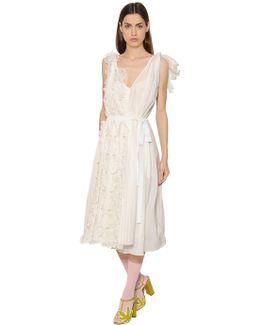 Floral Cotton & Silk Voile Dress
