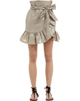 Cotton & Linen Asymmetric Ruffled Skirt
