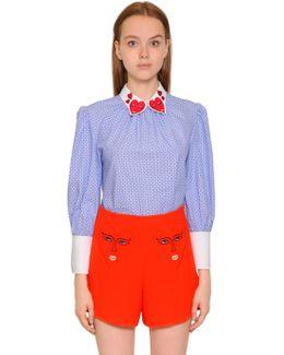 Stripe & Polka Dot Cotton Poplin Top