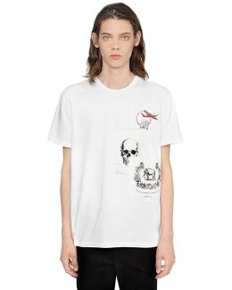 Printed Patches Cotton Jersey T-shirt