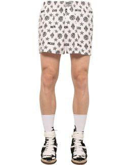 Monogram Printed Cotton Boxer Shorts