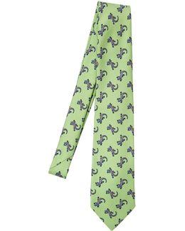 8cm Salamanders Printed Silk Satin Tie