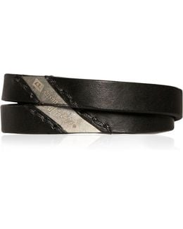 Two Tone Smooth Leather Bracelet