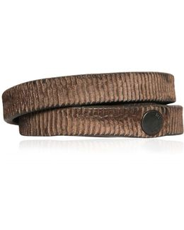 Laser-cut Faux Leather Bracelet
