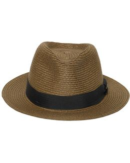 Pleated Straw Hat