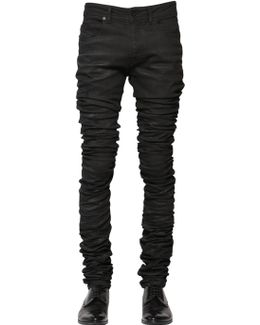 16.5cm 3d Extra Long Waxed Denim Jeans