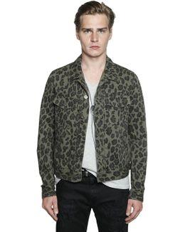 Leopard Printed Denim Jacket