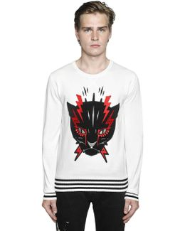 Angry Cat Cotton Sweater