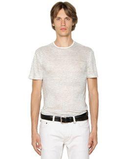 Striped Linen Jersey T-shirt