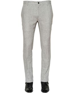 Stretch Linen Canvas Pants