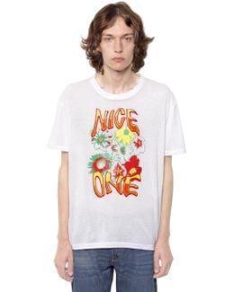 Nice One Print Cotton Jersey T-shirt