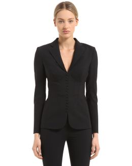 Wool Jacket W/ Incorporated Bra Cup