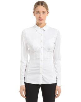 Cotton Shirt W/ Incorporated Bra Cup