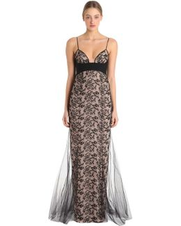 Autografo Long Silk Tulle Gown