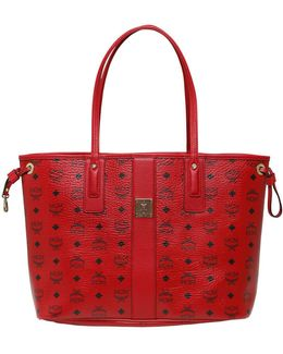 Medium Reversible Faux Leather Tote