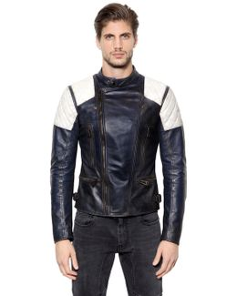 Greensted Two Tone Leather Moto Jacket