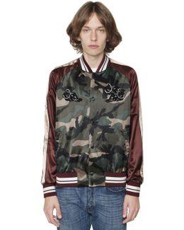 Camo & Panther Satin Souvenir Jacket